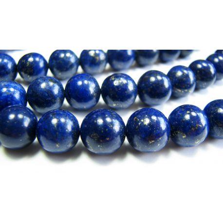 Lapis Lazuli karoliukai tamsiai mėlynos spalvos, A klasės apvalios formos 10mm
