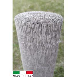 Italian crepe paper, grey-yellow, 2.50 x 0.50 m.