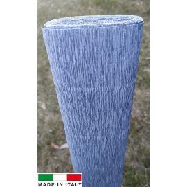Itališkas krepinis popierius, žydrai spalvos, 2.50 x 0.50 m.
