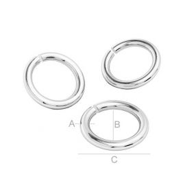 Open single jump rings 925, 6.40 mm 4 units.