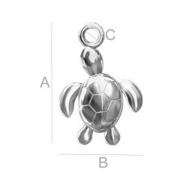 "Pendant ""Turtle"" 925, 16x11 mm 1 pcs."