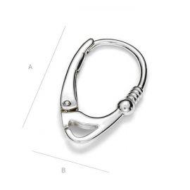Earring hooks 925, 17x10 mm 1 pair