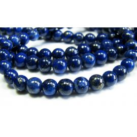 Lapis Lazuli beads dark blue, round shape 4 mm