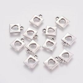 """Kulons """"Slēdzene"""", 14x11x2 mm, 4 vienības, 1 soma"""