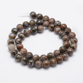 Natural African Opal beads, 8 mm, 1 strand