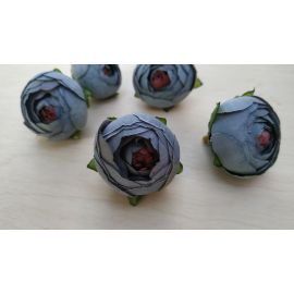 Decorative fabric flower 30 mm, 1 pcs.
