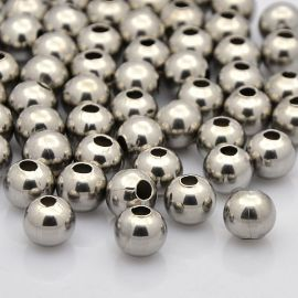 Stainless steel 304 insert, 6x5 mm, 6 pcs., 1 bag