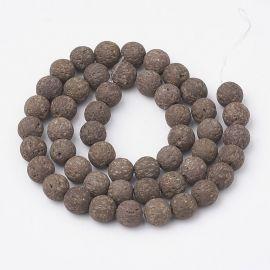 Natural lava beads, 8-8.5 mm, 1 strand
