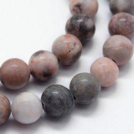 Натуральные бусины из розового джаспи зебры, 8 мм, 1 нитка
