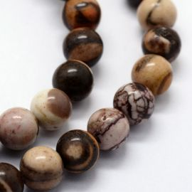 Natural Bea hers beads, 8 mm, 1 strand