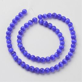 Beads of the cat's eye. Blue size 8 mm