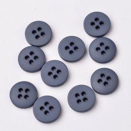 Plastic saga 4 holes. Dark gray size 25x4.5 mm
