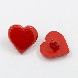 "Acrylic saga ""Heart"". Red size 17x17x3 mm"