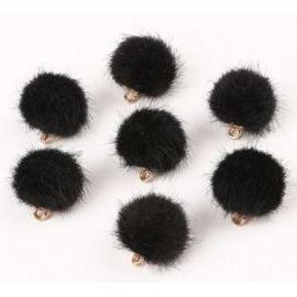 Kailiniai bumbuliukai. Juodos spalvos dydis 18x16 mm
