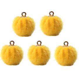 Fur bumblebees, 18x16 mm, 2 pcs., 1 bag