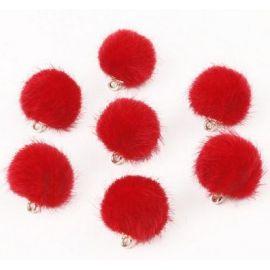 Kailiniai bumbuliukai. Raudonos spalvos dydis 18x16 mm