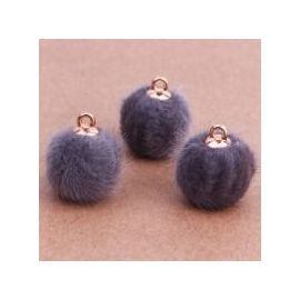 Fur bumblebees. Grey size 18x16 mm