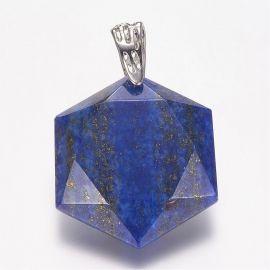 Natural Lapis Lazuli pendant, 41x28x9 mm, 1 pcs