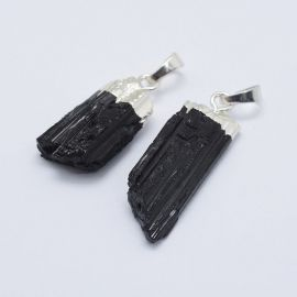 Natural Tourmaline Pendant, 30-39x12-16x6-10 mm, 1 pcs