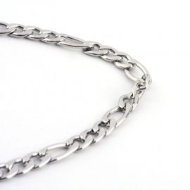 Stainless steel 316 chain with carbine clasp, 3 mm, 1 pcs