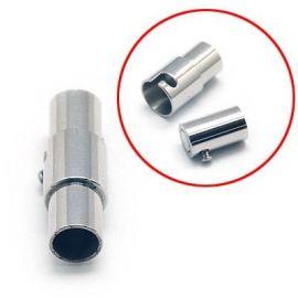 Nerūdijančio plieno 304 magnetinis užsegimas su papildomu fiksavimu. Nikelio spalvos dydis 18x6 mm