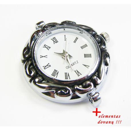 Mehāniskais pulkstenis ar elementu, sudraba krāsa 30x28 mm