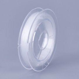 Elastic rubber. White