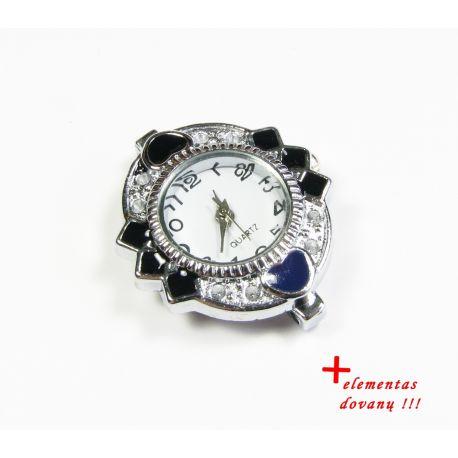 Mehāniskais pulkstenis ar elementu, sudraba krāsa 31x26 mm