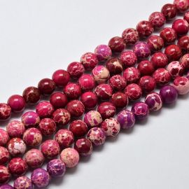 Imperial Jaspio bead thread, pink, 6 mm
