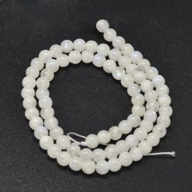 Natural Rainbow Moon Stone Beads 5 mm 1 strand