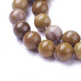 Natural Jaspio beads 8 mm 1 strand