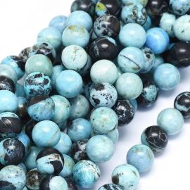 Natural Blue Opal beads. Blue - blue with black inclusion size 10 mm