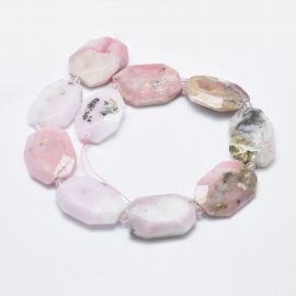 Natural Pink Opal Beads - Pendants 31-36x24-26x2-3 mm 1 pcs