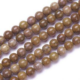 Natural Jaspio beads 4 mm 1 strand