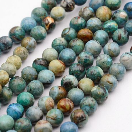 Natural Copper. Turquoise-black size 5-6 mm