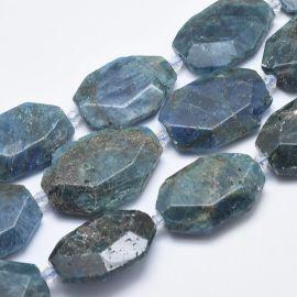 Natural beads of Apatito - pendants. Turquoise brisper size 31-36x24-26x2-3 mm