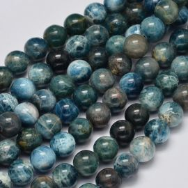 Natural beads of Apatito. Turquoise size 8 mm