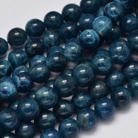 Natural beads of Apatito. Dark blue size 7-8 mm