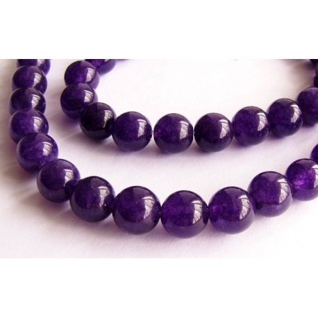 Agave bead thread in a round shape of purple 6mm thread 64 pcs.