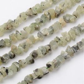 Natural Nuggets of Prehnito Beads 18-25x14-19x7-13 mm 1 strand