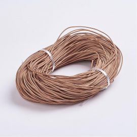 Natural leather cord, 2.00 mm., 1 m.