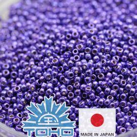 TOHO® Seed Beads Permafinish - Galvanized Violet TR-11-PF581 11/0 (2.2 mm) 10 g.