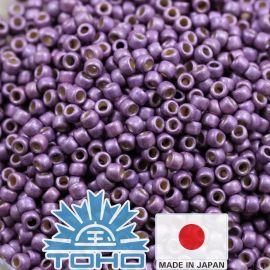 TOHO® Seed Beads Permafinish - Matte Galvanized Pale Lilac TR-11-PF579F 11/0 (2.2 mm) 10 g.