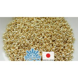 TOHO® Seed Beads PermaFinish - Galvanized Yellow Gold TR-11-PF559 11/0 (2.2 mm) 10 g.