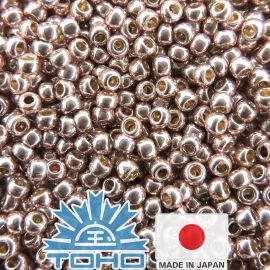 TOHO® Seed Beads PermaFinish - Galvanized Sweet Blush TR-11-PF552 11/0 (2.2 mm) 10 g.