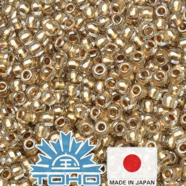 TOHO® Beser Gold-Lined Crystal 11/0 (2.2 mm) 10 g.