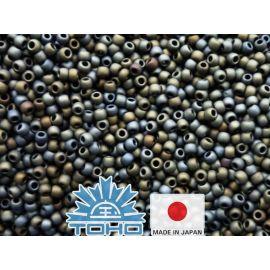 TOHO® Binge Frosted Metallic Iris - Brown 11/0 (2.2 mm) 10 g.