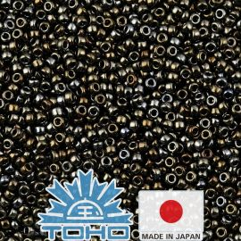 TOHO® Seed Beads Metallic Iris - Brown TR-11-83 11/0 (2.2 mm) 10 g.