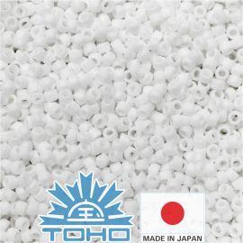TOHO® seemnehelmed mattvärvi läbipaistmatu-vikerkaarvalge TR-11-761 11/0 (2,2 mm) 10 g.