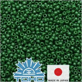 TOHO® Seed Beads Opaque Pine Green 11/0 (2.2 mm) 10 g.